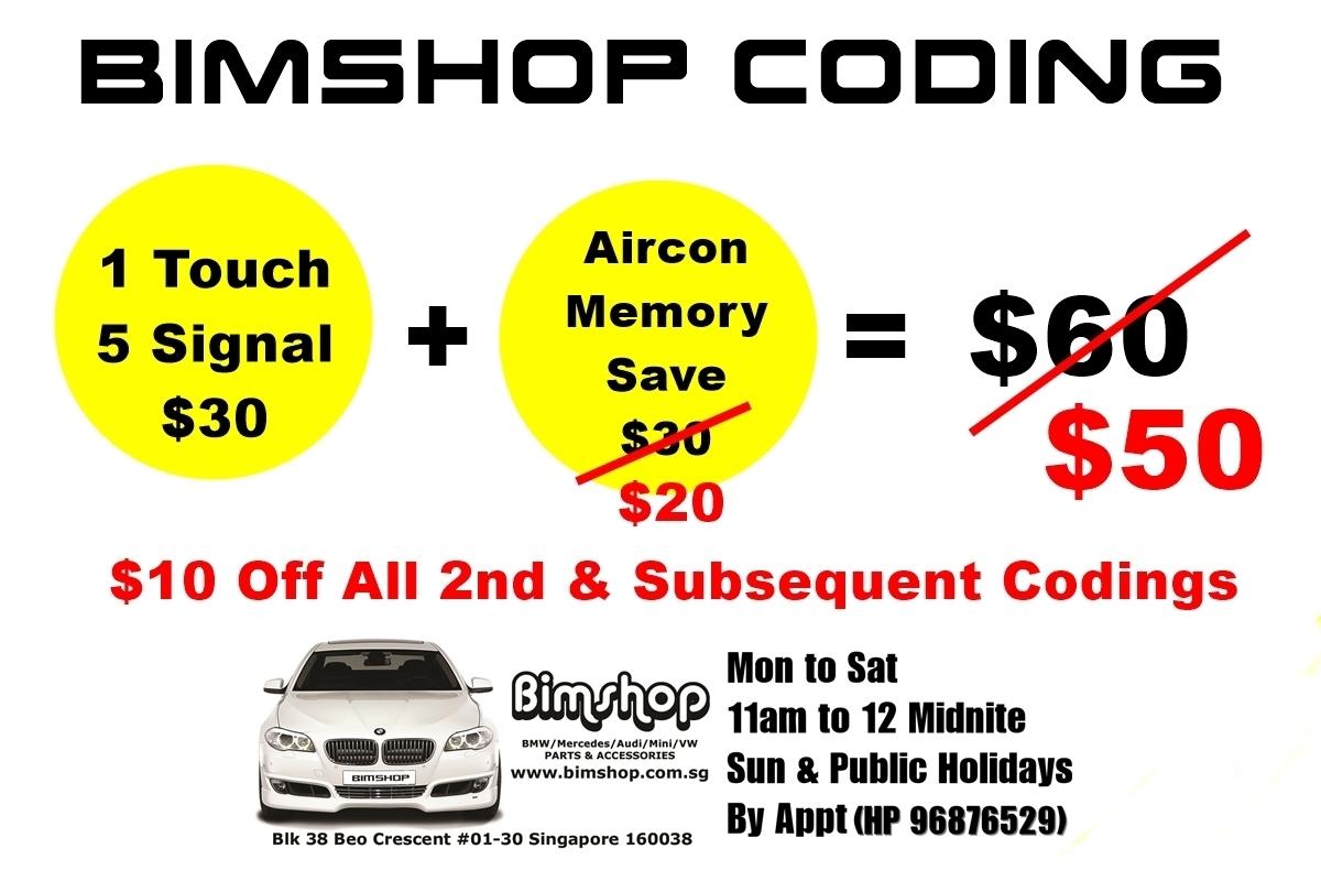 Bimshop Coding - E series (Repost thread)   BMW SG - Singapore BMW